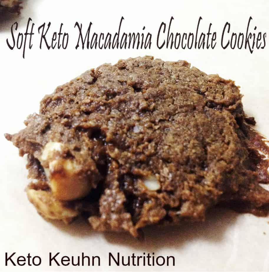 Soft Keto Macadamia Chocolate Cookies 1 - Soft Keto Macadamia Chocolate Cookies
