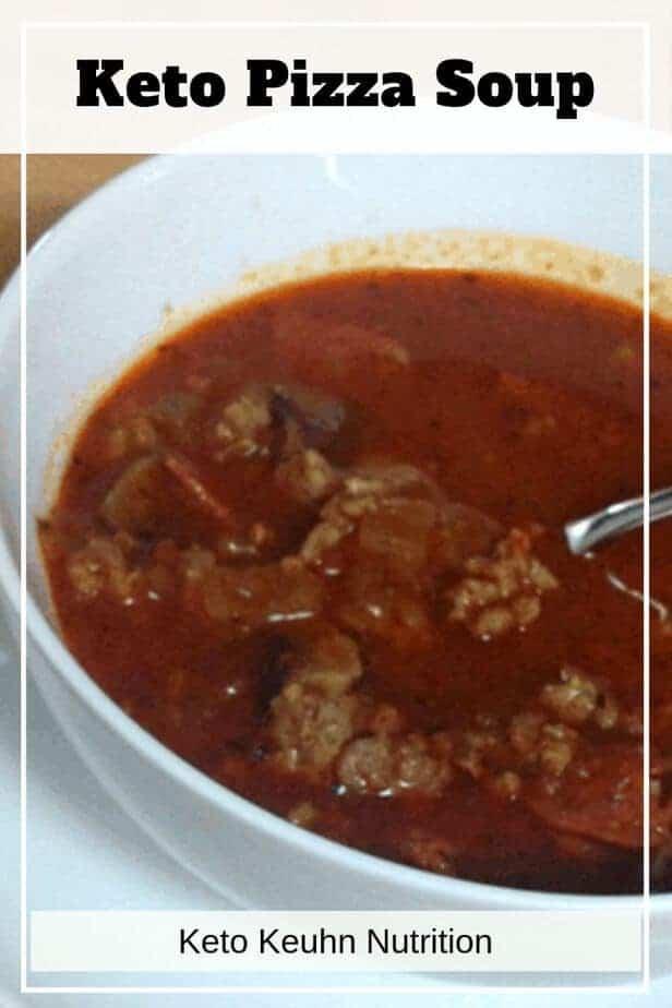pizza soup - Keto Pizza Soup