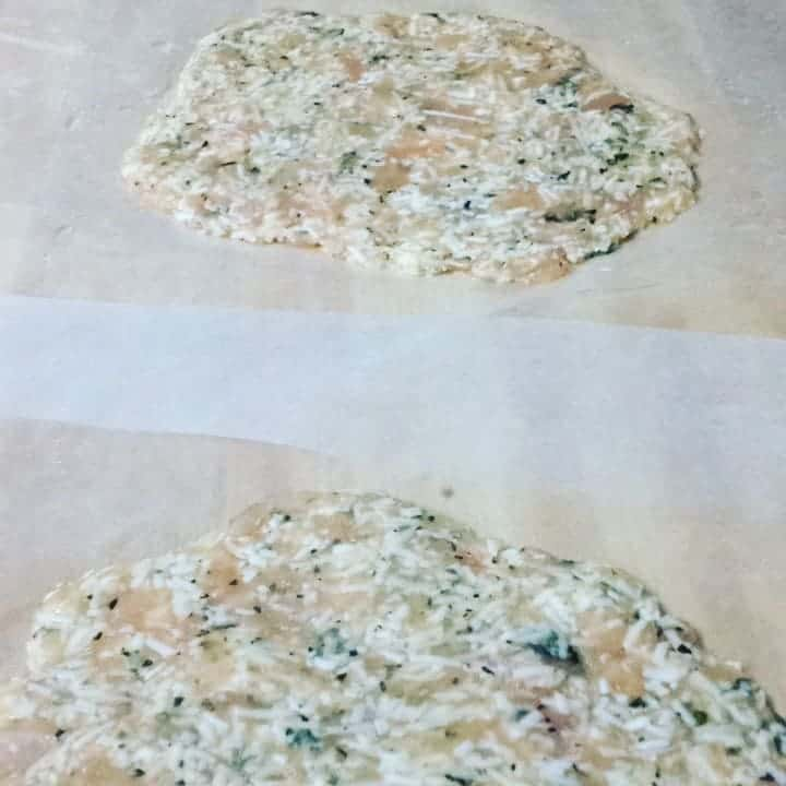 Enjoy this zero carb pizza crust guilt free. This crust is also able to freeze so this would make for an easy meal prep for the week or in a few months.