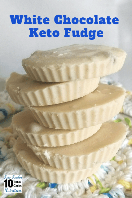 Keto White Chocolate Fudge 1 min resize - Keto White Chocolate Fudge