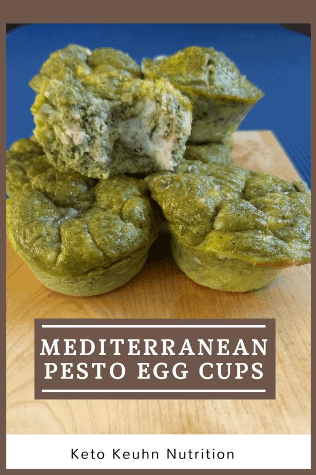 Mediterranean Pesto Egg Cups 1 - Mediterranean Pesto Egg Cups