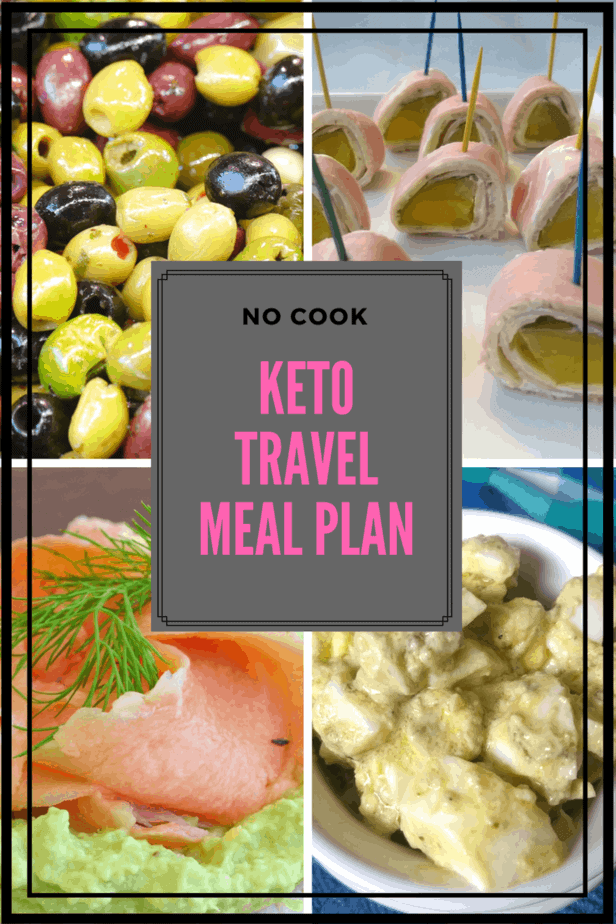You can still eat keto if you are traveling or just don't want to cook. In this keto travel meal plan, I give you options. Get ideas and make this meal plan your own.