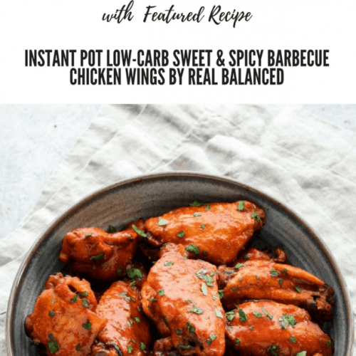 This meal plan is hopefully the first of many other meal plans where I feature someone else's recipe from their blog. Today's featured recipe is some wings and they are from Real Balanced. Hince the blog post name of Real Balanced's Chicken Wings Meal Plan.