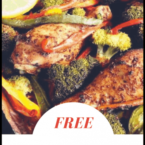 Making this meal plan will be really easy as lunch and dinner can be easily cooked in the oven. Heck, I'm pretty sure you could cook the sausage patties in the oven if you wanted to. The recipe for dinner is featuring Low Carb Yum's Super Easy Sheet Pan Chicken and Vegetables Recipe.