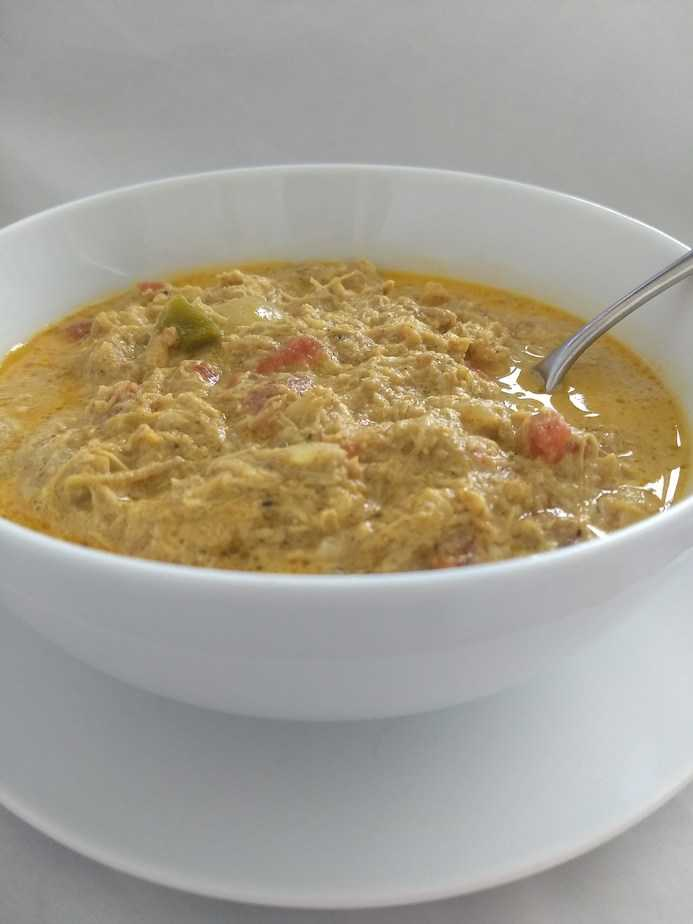 IMG 20180414 150356438 - Keto White Chicken Chili in Crockpot (Curry Optional)
