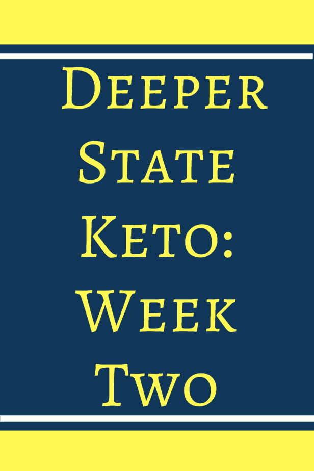 Week two on Deeper State Keto. Come see how I did on week two. I tried out a new pizza crust and survived working out. I also stayed on track on my days off from work and not feeling the best.