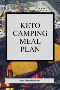 Keto camping meal plan