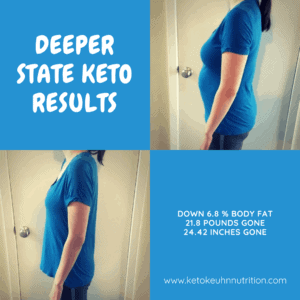 I have crunched the numbers, taken photos and now I have my Deeper State Keto results. Sticking with the program as it's designed has defanitly paid off.