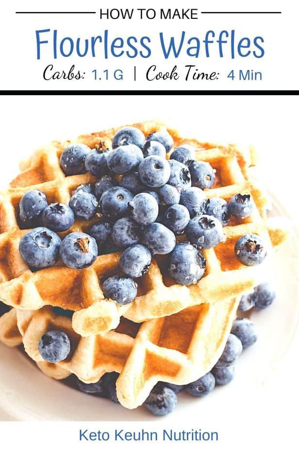 5 - Keto Flourless Waffles: 3- Ingredients
