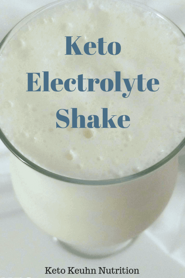 Electrolyte Shake - Starting a Keto Diet Meal Plan