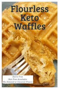 Flourless keto waffles with peanut butter