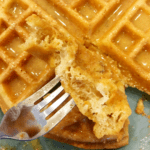 flourless keto waffles with peanut butter