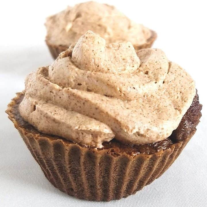 1200 1200 1 720x720 - Keto Chocolate Pumpkin Muffins with Spiced Buttercream Frosting (w video)