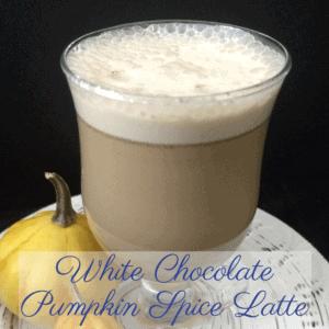 White Chocolate Pumpkin Spice Latte