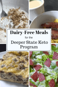 Looking for some keto meal ideas with no dairy? Well, I've got you covered. I have 5 days of ideas for dairy free Deeper State Keto meals.