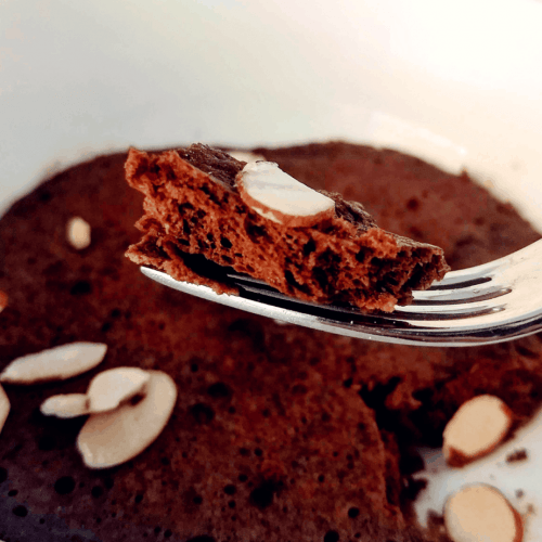 Behold a 2.4 total carbs or 0.4 net carbs cake recipe. A near zero carb mug cake that's chocolate. No nut flours were used. Have a nut allergy? No worries.
