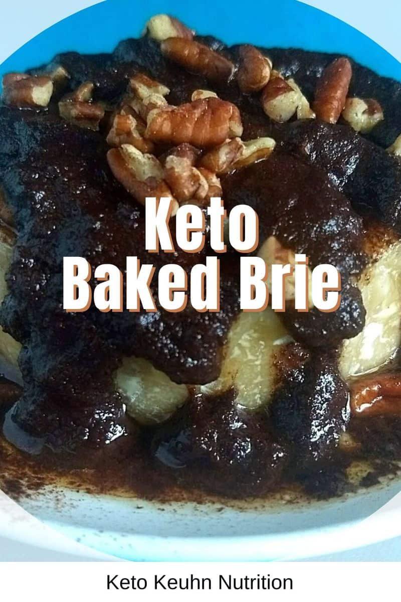 Keto Oven Baked Brie Pecans chocolate caramel - Keto Baked Brie: Turtle Sundae