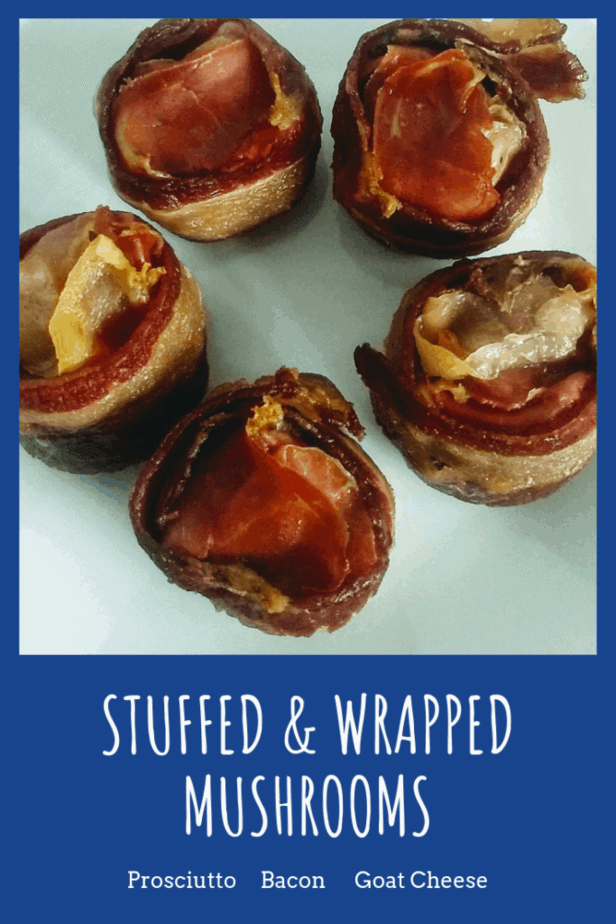 Try these stuffed mushrooms wrapped in prosciutto and bacon for an easy appitizer for your holidays gathers this year and impress your guests.