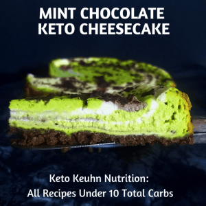 Keto Mint Cheesecake with zero carb crust