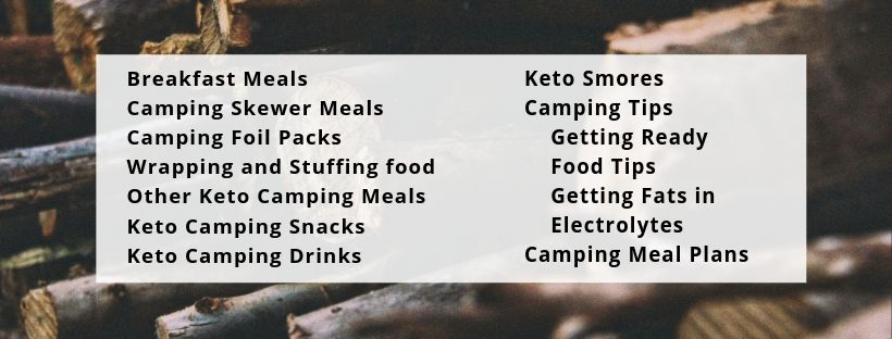 keto camping meals and tips content