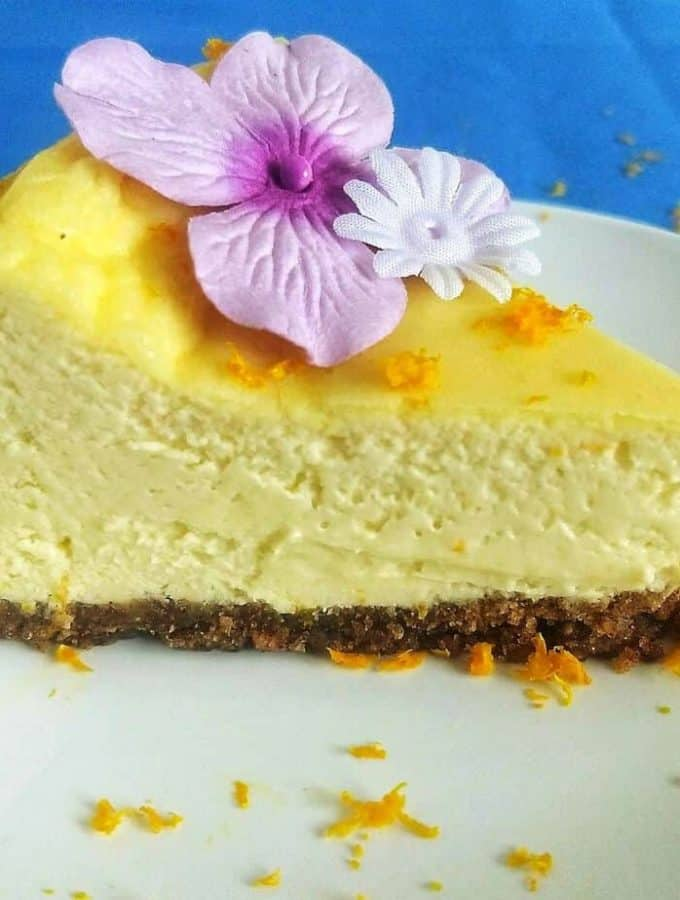 keto orange creamiscle cheesecake