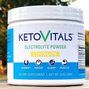 Lemonade Keto Vitals electrolyte powder