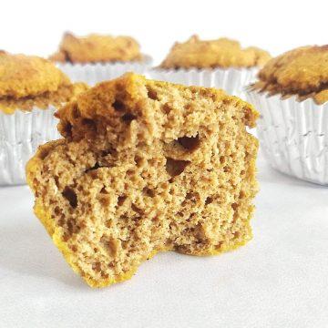 opening of a pumkin muffin
