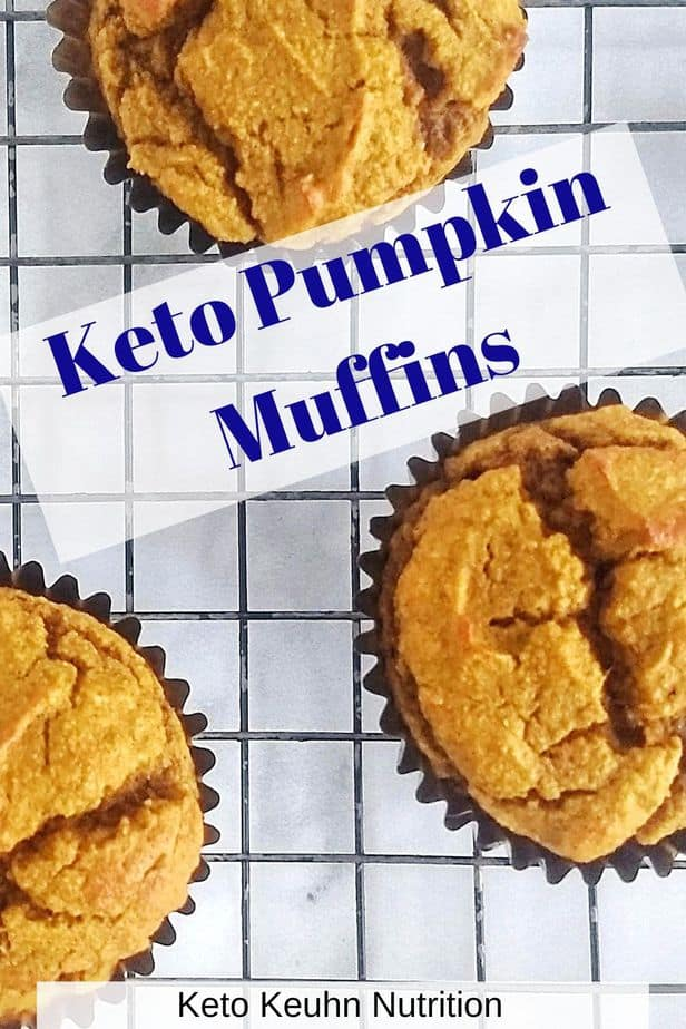 Keto Pumpkin Muffins - Easy Keto Pumpkin Muffins made with Coconut Flour & Almond Flour: with optional Cream Cheese Frosting