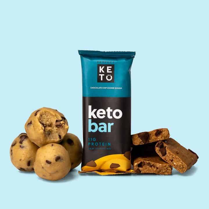 perfect keto Chocolate chip cookie dough bar