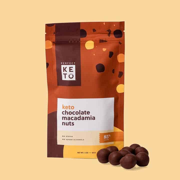 perfect Keto Chocolate Macadamia Nuts