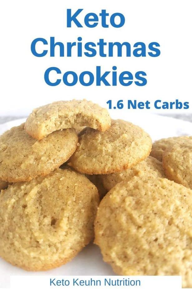 Eggnog Keto Christmas Cookies