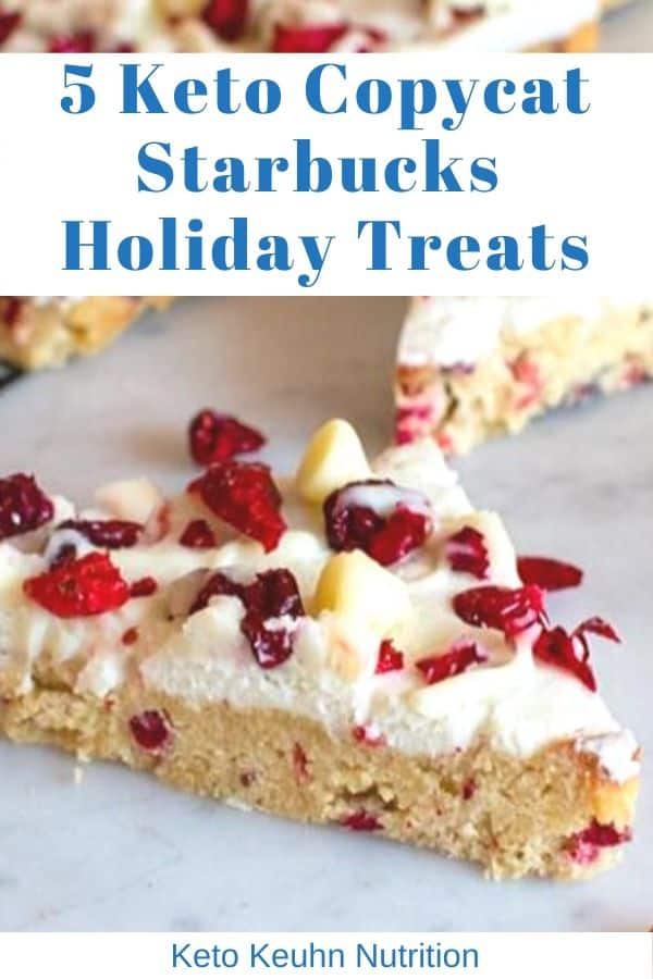 5 Copycat Starbucks Holiday treats - Keto Starbucks Holiday Drinks and Treats