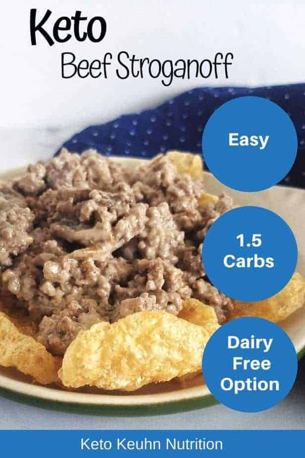 This easy keto beef stroganoff recipe is made with ground beef. This low carb stroganoff has an easy dairy free option with still keeping it creamy and the traditional flavor you know best.