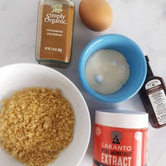 ingredients - Keto Cinnamon Muffins