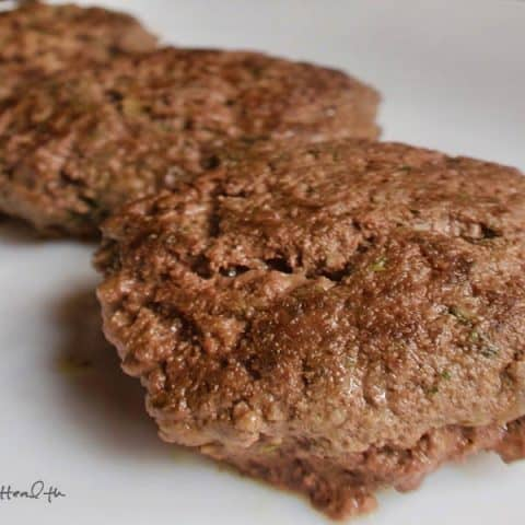Burgers with Onion Gravy 480x480 - 51 of the Best Carnivore Diet Recipes