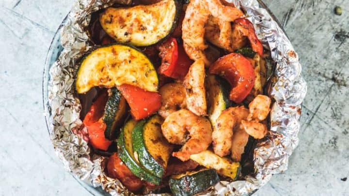 shrimp foil pack 14 720x405 - 20 Keto Camping Recipes