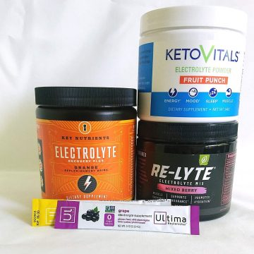 4 diferent electrolyte powders.