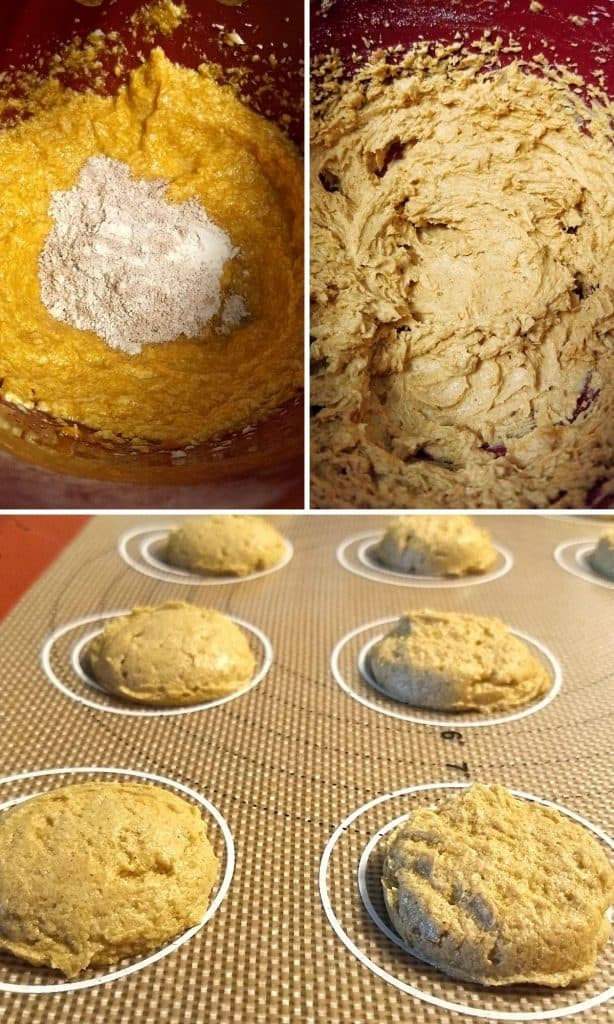 3 steps for keto pumpkin cookies 614x1024 - Keto Pumpkin Cookies | 1 Total Carbs