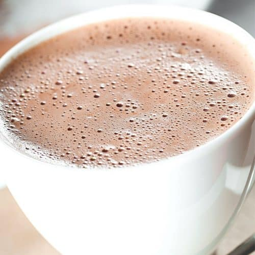 Hot Chocolate in a white mug