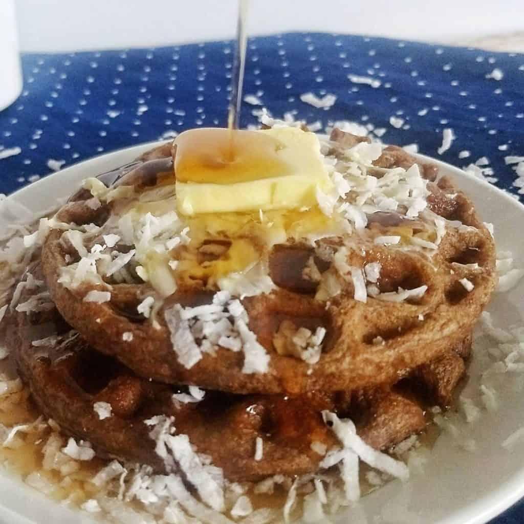14 2 1024x1024 - Keto Chocolate Waffles | Easy & Flourless