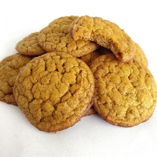Pile of Keto Pumpkin Cookies with Coconut Flour 500x500 - Keto Butter Cookies (1.5 total carbs): Best Almond flavor with Almond and Coconut Flour