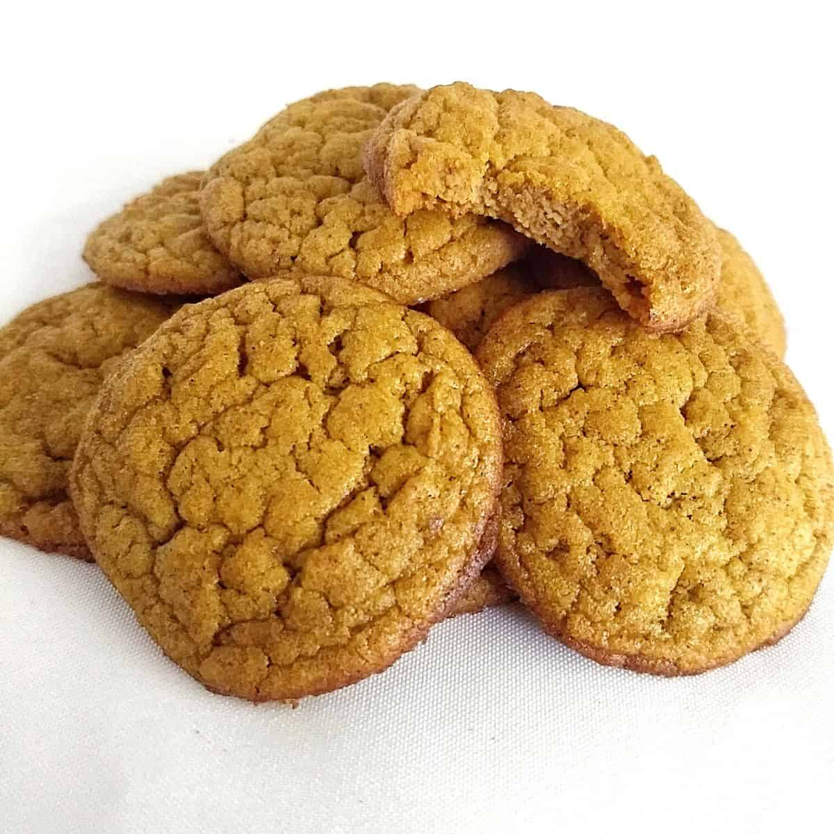 Pile of Keto Pumpkin Cookies with Coconut Flour - Keto Coconut Flour Recipes: Desserts to Dinners