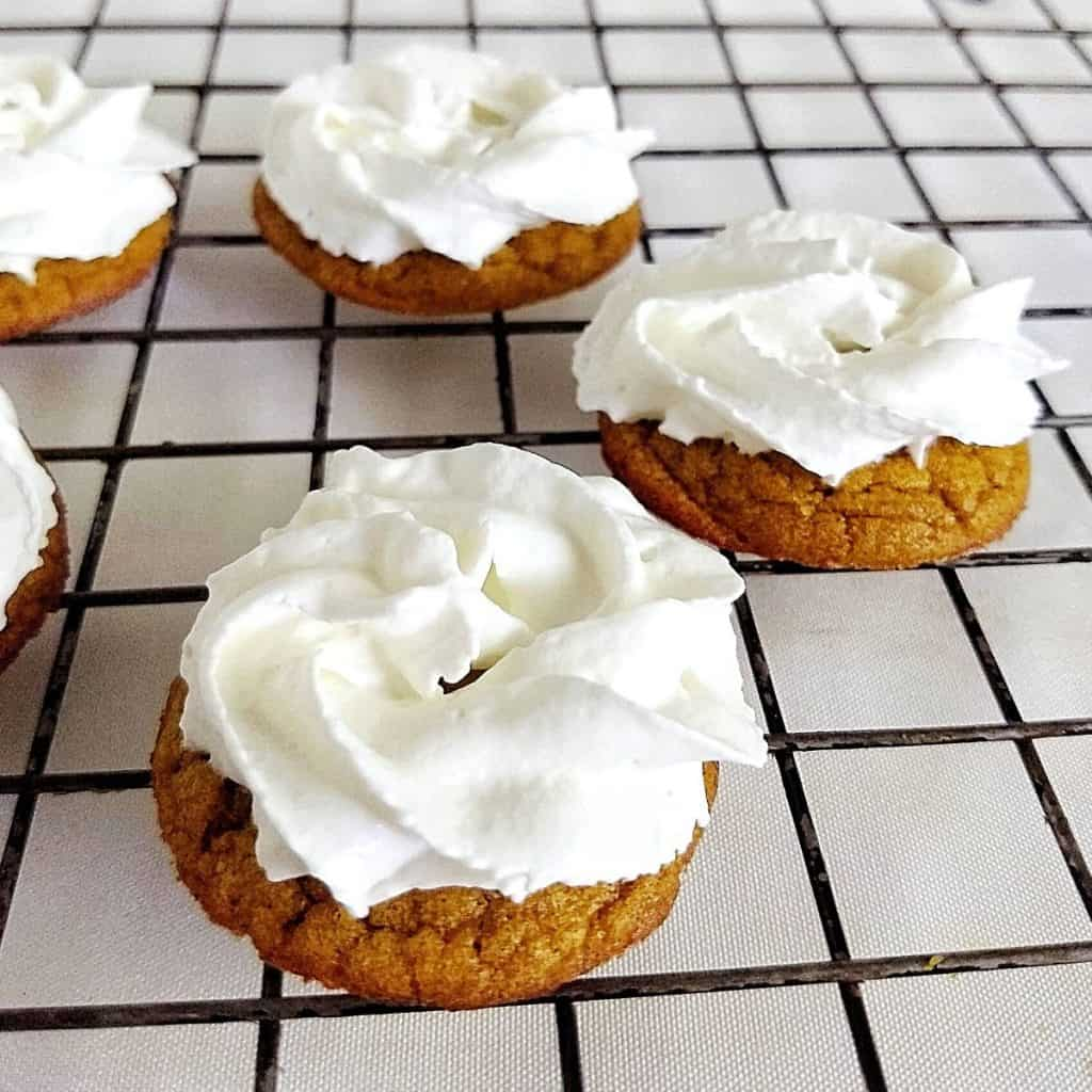 keto Pumpkin Cookies with Whipped Cream 1024x1024 - Keto Pumpkin Cookies | 1 Total Carbs