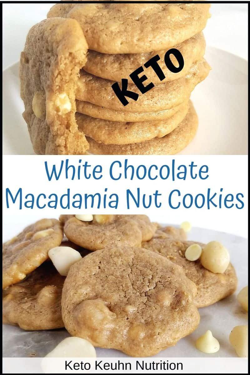 white chocolate mac cookies - Keto White Chocolate Macadamia Nut Cookies