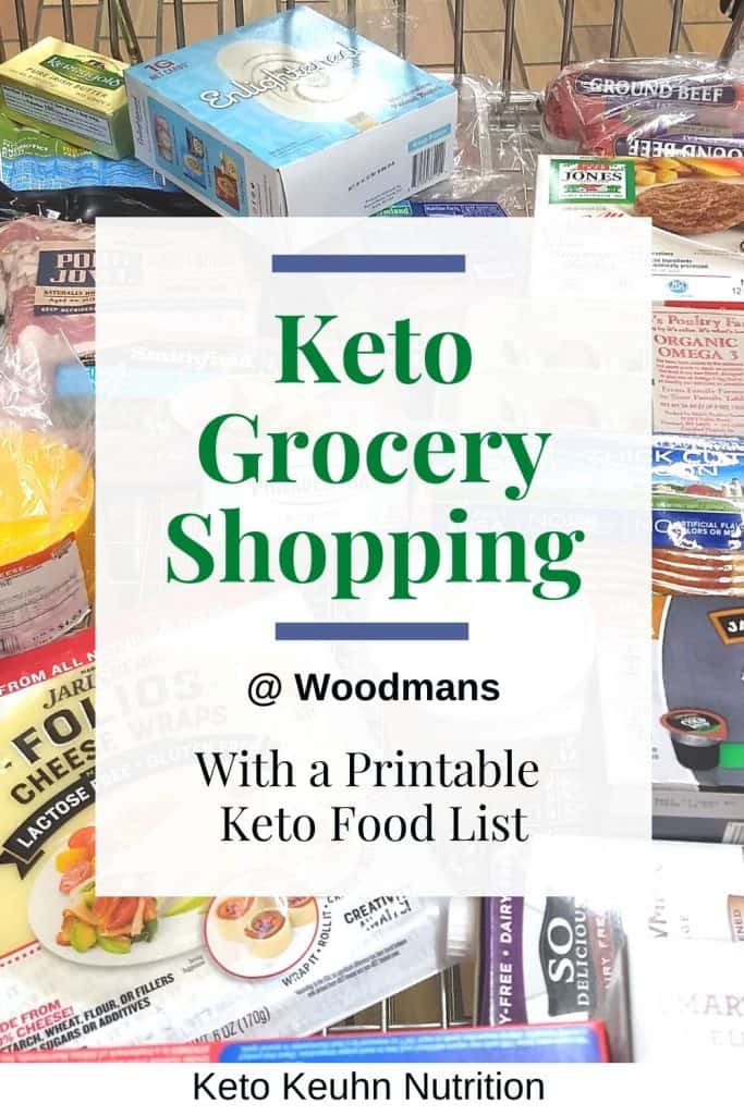 Keto Grocery Shopping cart from Woodmans 683x1024 - What to Buy for Keto at Woodman's Grocery Store