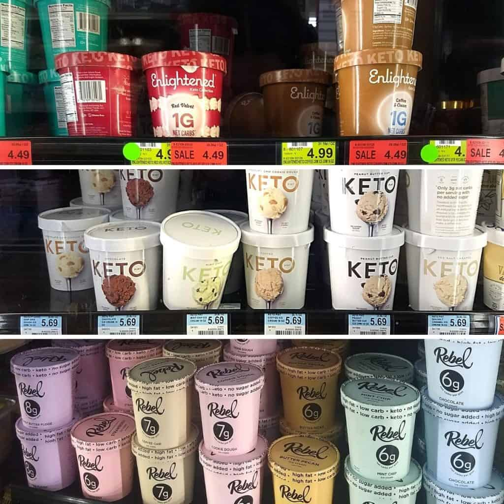 Keto Ice Cream Options 1024x1024 - What to Buy for Keto at Woodman's Grocery Store