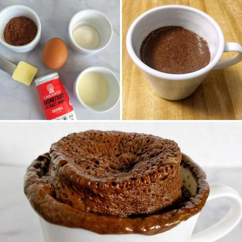 keto chocolate mug cake steps 1024x1024 - Best Keto Foods For Diarrhea & What to Avoid