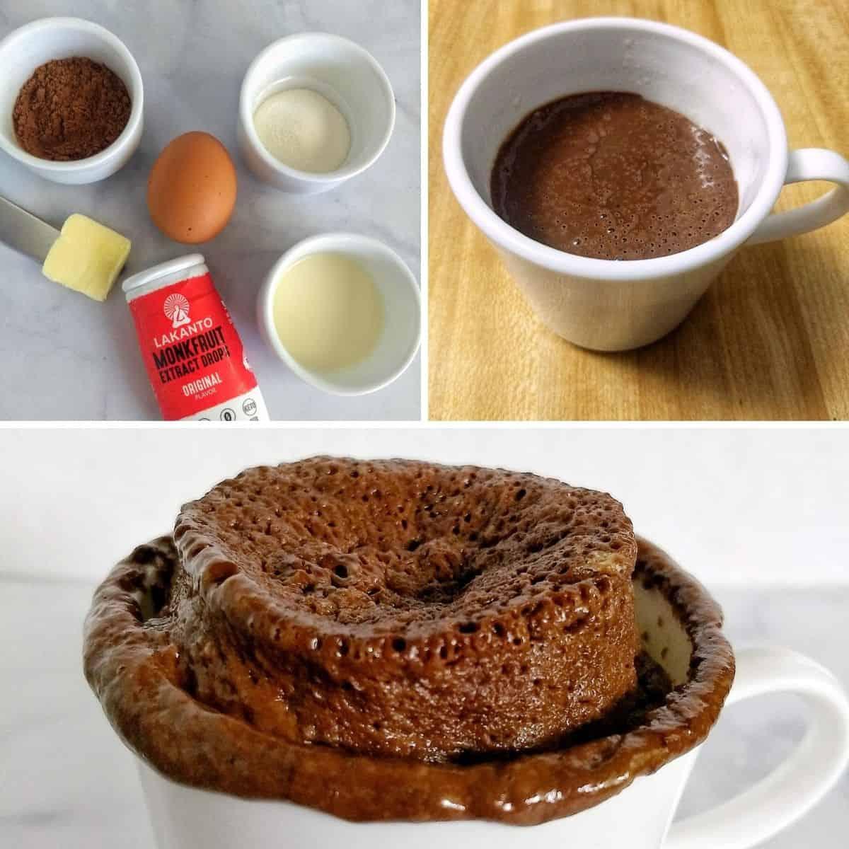 keto chocolate mug cake steps - Keto Chocolate Mug Cake