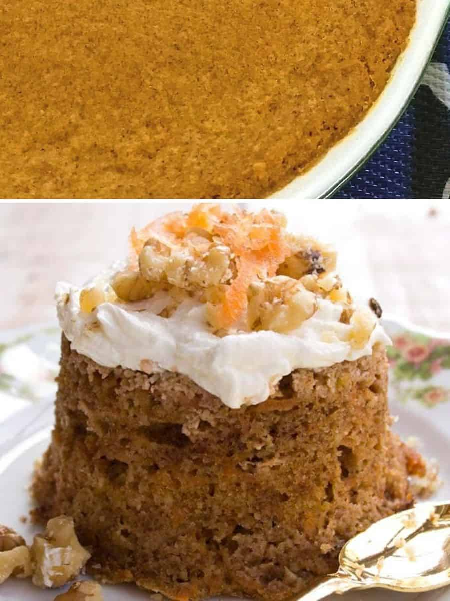 Keto thanksgiving pumpkin pie and carrot cake - Keto Thanksgiving for 2