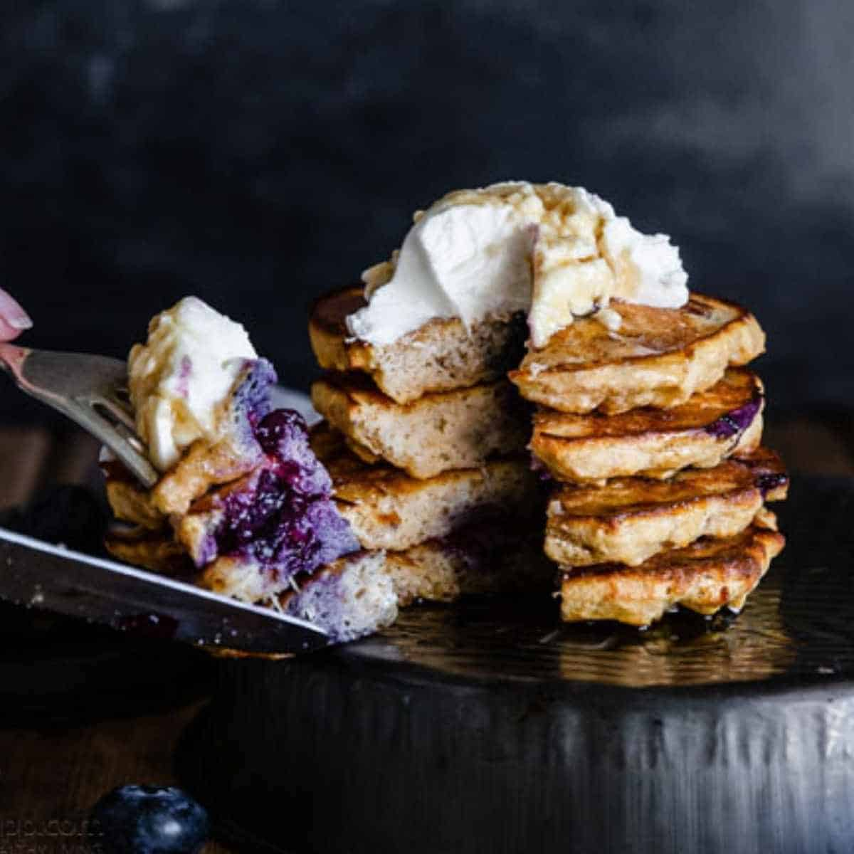 blueberry keto pancakes - Keto Coconut Flour Recipes: Desserts to Dinners